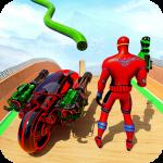Speed Hero Robot Ramp Bike Transform Robot Games icon