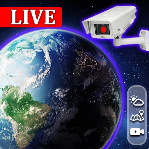 World LIVE Webcam, Earth Live watch Cities, Bridge icon