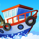 Fish idle: hooked tycoon. Your own fishing boat icon