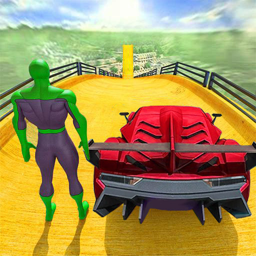 Superhero Car Stunts - Racing Car Games icon