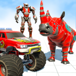 Monster Truck Robot Wars Games Rhino Robot Game Mod Apk Unlimited Android