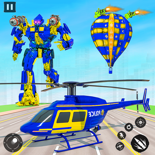 Flying Helicopter Robot Game:Grand Robot Car Games icon