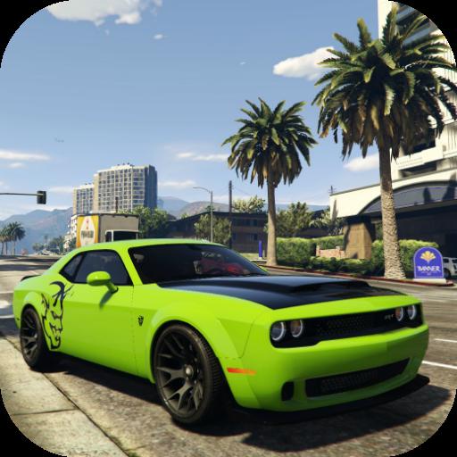 Fast Simulator Dodge Demon Parking City icon