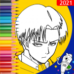 Coloring game for attack on titan icon
